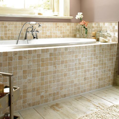 Bathroom Tiles Wickes : Mosaique salle de bain travertin et marbre