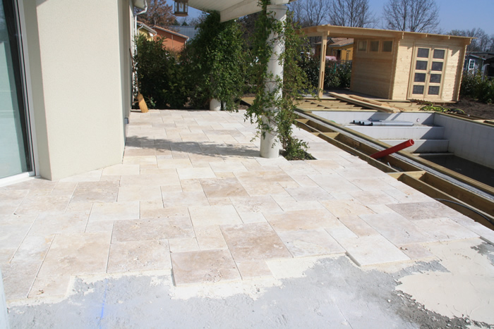 Travertin opus 4 for Calepinage carrelage 3 formats