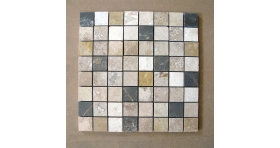 Mosaique ASPEN - Mosaique Marbre Black & Brown 36 X 36 mm